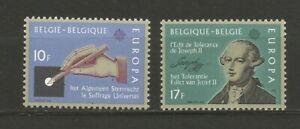 EUROPA CEPT 1982 Belgique 2 timbres neufs MNH /TR1720