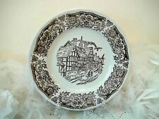 Tudor side plate ironstone - Staffordshire collectors Village tudor decor plate