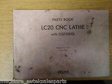 OKUMA LC20 CNC LATHE W/ OSP5000L PARTS BOOK MANUAL_2155-E_2155E