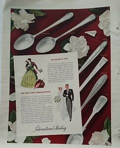 1932 International sterling silver enchantress courtship empress continental ad