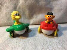 2 Pc Illco Jim Henson Sesame Street Big Bird & Ernie Toy Plane Car Vintage