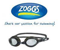 Zoggs Bondi Swimming Goggles Silicone Swim Antifog Soft Seal Pool Training Black
