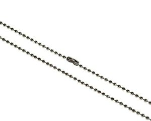 2mm Steel Ball Neck Chain for ID Cards, Badge Holders, Dog Tags and Key Chains
