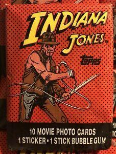 NEW 1984 INDIANA JONES TEMPLE OF DOOM (ONE) WAX PACK TOPPS