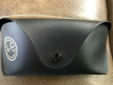 NEW RAY BAN SUNGLASSES CASE Soft Black Faux Leather Snap Closure  Belt Loop