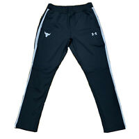 Under Armour Project Rock Black Track Pants Joggers, Size Medium NWT $100