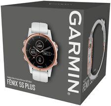 Garmin Fenix 5S Plus Sapphire GPS Watch White Rose Gold with White Band