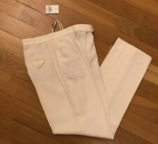 Hermes Linen White Trousers Size 40 made in France NEW RRP £1200