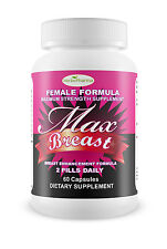 MAX BREAST NATURAL Bust Enhancement INCREASE bigger breast boobs PRIVATE LISTING