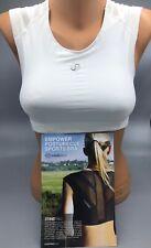 """Intelliskin Women's """"Empower PostureCue"""" Athletic Sports Bra in White Size Small"""