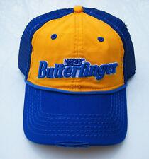 70s style NESTLE BUTTERFINGER Distressed Mesh Trucker Snapback Baseball Hat NWT