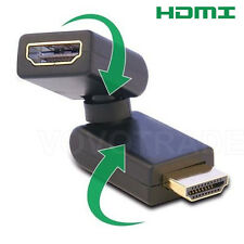 HD HDMI Adapter Rotating Twister Female to Male Coupler 360 Degree Swivel 24K