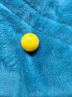 """Marbles: Rare Mint Alley Agate 5/8"""" Monochromatic Yellow Flame w/Aventurine"""