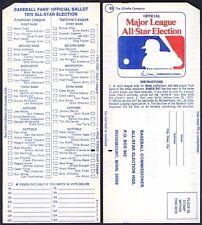 1970 ORIGINAL MLB ALL-STAR BASEBALL GAME BALLOT@CINCINNATI REDS (MISSING 1 CHAD)