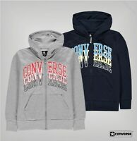 Boys Converse Long Sleeves Ribbed Zip Hoodie Sizes Age from 8 to 15 Yrs
