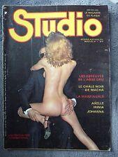 "REVUE ADULTES STUDIO No.7 - ""Magazine du plaisir"" AVRIL/MAI 1978 AVEC POSTER"