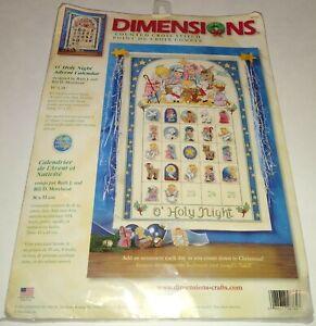 Dimensions Cross Stitch Kit O Holy Night Advent Calendar Christmas
