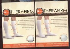 2 New Boxes Therafirm 18 mmHg Large White Knee-High Anti-Embolism Stockings
