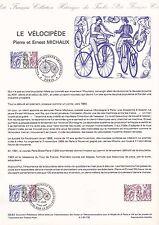 Document Philatélique Timbre 1er Jour : 01/10/ 1983 - Le Vélocipède
