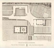 España. Badajoz. «Plano de los Baños de Alhange» Alexandre Laborde (1810-11)