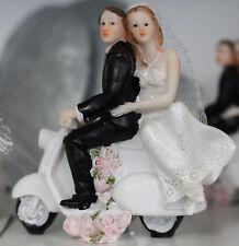 Hochzeitspaar,Brautpaar auf Roller,Hochzeit,Hochzeitdeko ,Tortenfigur