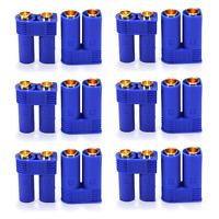 10 Paar 20 Stück EC5 5mm Hochstromstecker Stecker + Buchse Goldstecker bis 120A