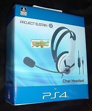 Official Licensed Sony Ps4 Headset Wired Chat Gaming White - &