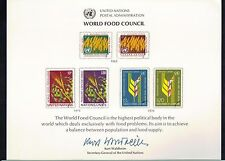 UN United Nations Souvenir Cards Scott #10 M NH 1976 World Food Council