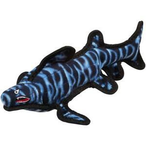 Tuffy Ocean Shark Durable Floating Dog Plush Toy Blue Children Fun Play Games