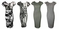 Unbranded Scoop Neck Dresses Stripes