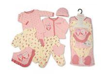 7 Piece Baby Girls Layette Clothing Gift Set Pink Owl Design (0-3  Months)