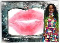 2018 Topps WWE Wrestling NAOMI Authentic KISS CARD 31/99 Road to Wrestlemania