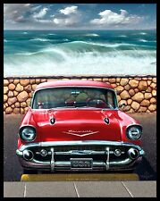 CHEVY CHEVROLET LARGE RUBBER BACKED MOUSEMAT MOUSE PAD CARS AMERICAN CHRISTMAS