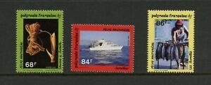G504 French Polynesia 1993 Bonito fishing 3v. MNH
