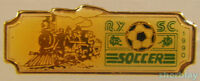 VTG Soccer Ball Sports TRAIN RY SC SOCCER 1990 90's Hat Pin Badge Pinback