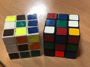 Vintage USSR Rubik's Cube Moscow Soviet Puzzle set 2pcs