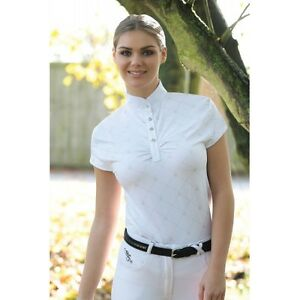Equetech Fleur Competition Shirt - Ladies Competition Shirt - Diamante Buttons