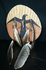 88# Vintage 70/80s LAKOTA War SHIELD, Made Of BISON Back - SACRED RAVEN