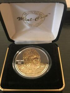 Rare Emmitt Smith Highland Mint Signature Series Silver W Gold Coin 1/1500