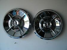 """2- 14"""" aftermarket lancer hubcaps - rechromed"""