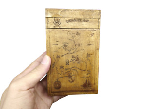 Rare Pirate Treasure Map Maze Wooden Puzzle Box Brain Teaser Mind Game Gift Toys