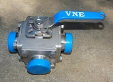 "VNE 2"" 316SS  3-Way Sanitary Ball Valve 1000 WOG   ""New other""  TS1"
