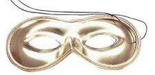 Metalic Gold Domino Masquerade Eye Mask Fancy Dress Adult NEW P1696