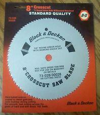 "(2) Black & Decker 8"" 100T Wood Crosscut Circular Saw Blade"