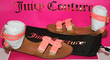 NIB Womens Juicy Couture Zizia Orange Patent / Caramel Sandals Shoes Size 6