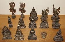 GROUP OF FIFTEEN (15) OLD 19th/20th CENTURY THAI & TIBET BRONZE FIGURES DEITIES