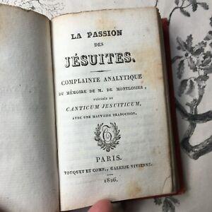 Livre Ancien Recueil JESUITES 1826 Touquet et Cie Paris