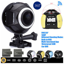 360 Degree Wifi 4K HD 1080P Waterproof Sport DV Camera Bike Diving Action VR Cam