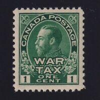 Canada Sc #MR1 (1915) 1c green Admiral War Tax Mint VF NH MNH