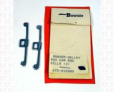 Bowser Selley Finishing Touches O Parts: Boxcar End Sills 675-010080